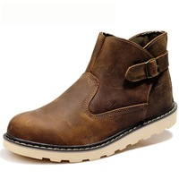 Genuine leather winter boots men's boots martin boots men's the trend of fashion thermal boots
