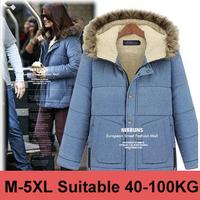 M-5XL 2014 Winter Women Fur Collar Parka Outwear Fashion Fleece Jacket Thickening Wool Hooded Coat Big Size  9120