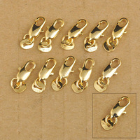 24Hours Free Shipping 20Pcs 18K Yellow Gold Filled Lobster Clasp GF Connecter Lin Jewelry Necklace Bracelet 18KGF Stamped Tag