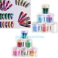 12 Rolls Mix Color Nail Art Transfer Foils Set Dazzle Colour Sticker  #1JT
