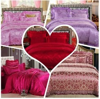 2014 news FREE SHIPPING DHL OR UPS 100% cotton silk four piece set Wedding bedding 201482