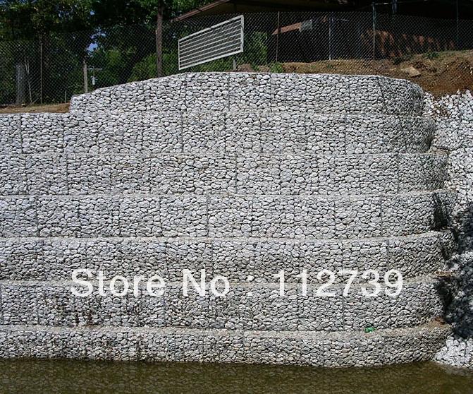 Direct Factory Of Galvanized Lake Gabion Stone Cage/Hesco Bastion(China (Mainland))