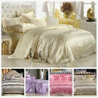 2014 news FREE SHIPPING DHL OR UPS 100% cotton silk four piece set Wedding bedding 201481