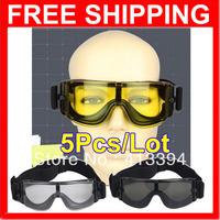 2013 New Hotsale USMC Airsoft X800 Tactical Sunglasses Glasses Goggles GX1000 Black 3 Lens