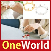 [One World] New Fashion Lady Elegant Exquisite Open Alloy Imperial Crown Style Ring Gift Hot Save up to 50%