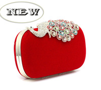 Two Chains Women Pearl Evening Bag Clutch Gorgeous Bridal Wedding Party Bag h03316 Free Shipping