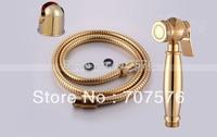 Quality copper gold bidet small spray gun small shower luxury bathroom women's shattaf