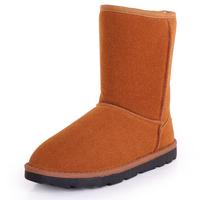 Winter boots snow boots female snow boots cotton-padded shoes flat heel women's shoes waterproof flat medium-leg boots elevator