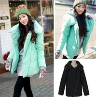 Macaron Women Preppy Style mint green Pillow Wadded Jackets Outerwear Down Coat