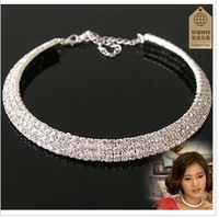 Min. order is $9 (can mix style) The bride necklace collar earrings set the bride rhinestone jewelryXL096