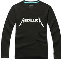 rock and roll  METALLICA 100%  cotton  men's  T-Shirt ,customized  DIY T shirts  round neck  Long sleeve
