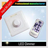 New Home LED Lights Stepless Dimming 110V 220V 200W Wall mounting & IR Remote Control Dimmer Indoor for LED Bulb Ceiling lamp