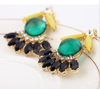 Min. order is $9 (can mix style)Fashion neon color block sweet stud earring earrings EH528