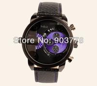 1pc/lotNew arrival Fashion design oulm men's military watch, Japan PC21 quartz movement,  100% cow geniune leather band