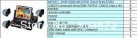 LCD DVR with LCD display screen HDMI H.264  full D1 4ch 3G wifi VGA P2P free software DVR7008CMOS700TVL free shipping