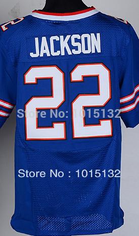 Buffalo #22 Fred Jackson Jersey White, Blue Stitched Elite American Football Jersey Free Shipping(China (Mainland))
