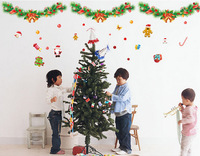 Christmas & happy new year Wall Stickers window\wall decoration,cute picture decoration.