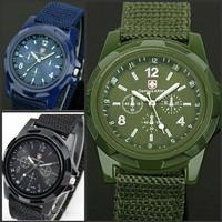 Nylon strap swiss army watch men military relogio hot sale luxury analog quartz wrist watches relojes 3 colors free shipping