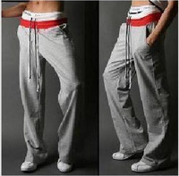 Men's Casual Pants Sport Pants Plus Size Men Outdoor Cotton Black Gray White 2013 Free Shipping