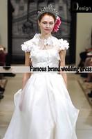 2014everlasting love 2014 Custom Made Classic A-line Satin/Organza Wedding Dresses With Jacket SL-9182