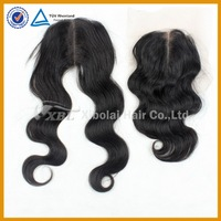 Brazilian 5A+ 2 pcs a lot virgin human hair body wave hair lace closure