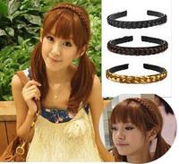New Fashion  Womens Girls Grils Korean Hair Wig Tails Braid Belt Plait Headband Hairband Accessories