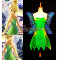 Free Shipping Custom-made Movie Costume Cosplay Princess Tinkerbell Dress