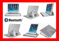 Aluminum Wireless Bluetooth Keyboard Stand Cover Case For iPad Air iPad 5 With Retail Box Free Shipping