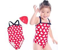 Free Shipping 2-14yrs Hot girls swimming suit cheap cute monokinis bathing suits Children set one pieces kids wholesale swimwear