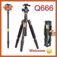 New Q-666 SLR Camera Tripod Monopod & Ball Head Portable Compact Travel