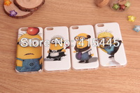 Free shipping Cute Cartoon Design Despicable Me TPU silicone soft case cover for iPhone 5 5C, Wholesale 50pcs