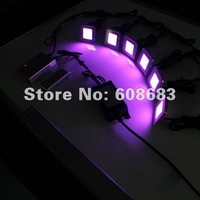 Free Shipping! Exteroir RGB LED Step Light Recessed Square Deck Light Set:15pcs Lights&3pcs Connection&1pc Driver&1pc Controller