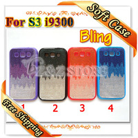 3 in 1 Full Body Covers for Samsung i9300 Colorful Bubles Case for Galaxy S3 SIII Free Shipping