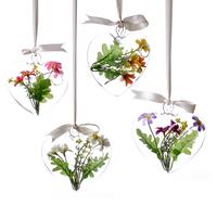 new 2014 Love shaped transparent glass vase loftiness fashion home decoration Wedding decoration