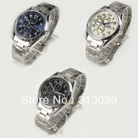 YY  Men High Quality Stainless Steel Quartz Wrist Watch H5013