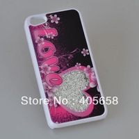 New arrival for iphone 5C case luxury swarovski design free shipping