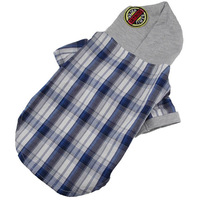 For Small Dogs,Designer Cotton Plaid Hoody T Shirts Pets Apprarel Clothes Free Shipping,M~XL