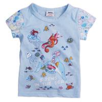 K2331# Nova kids wear 18m-6yrs baby girl fashion printing lovely style short sleeve t-shirts