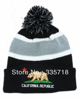 California Republic Beanies hats 2013 cheap beautiful headwear top quality winter knitted caps 3 styles Skullies Free shipping
