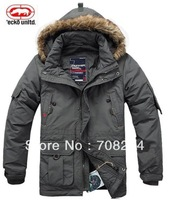 Rhino down coat plus size plus size removable liner outdoor cold-proof outerwear down medium-long male down coat