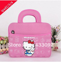 Cartoon Cute Hello Kitty Bag for Ipad Design Universal Liner Package Tablet PC Soft Case Bag for Apple Ipad1/2/3/4/ 5/Air Ebook