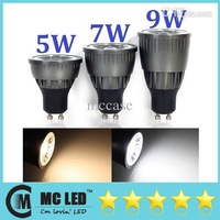 Wholesale - Ultra Bright GU10 Led COB Bulb Lights 5W 7W 9W Warm/Cool White High Power Led Spotlights 120 Beam Angle Dimmable 110