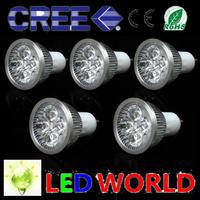 10 pcs/lot Spotlight lamps led lamps Cree 5x3W 15W GU10 85-265V Led Lamp Lights led Spotlight LED Bulbs AC 85-265V GU10/E27/E14