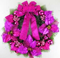 Christmas hanging decorative purple powder