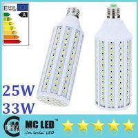 Wholesale - Super Bright 25W 33W E27 Led Light Corn Bulb 2200/2800 Lumens 360 Angle Warm/Pure White Led Lights 110V 220V Replace