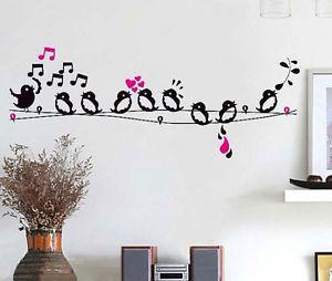 Great DIY Wall Art Birds Bra... Bird Singing On The Wi... ...
