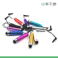 1000pcs Excellent Quality High Sensitive Stylus Capacity Screen touch pen with glitter  Dust Plug Plastic Materail