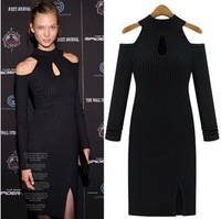 Free Shipping 2013 winter women's new long sleeve solid color sweater bottoming sweater dress Stretch Slim 6288