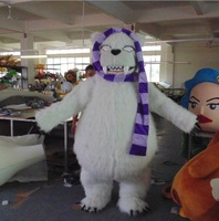 Walking dolls Polar bear mascot costume Adult size Free shipping by EMS