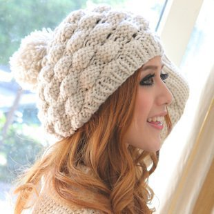 Wholesale 2013 hot christmas gift for woman Pineapple Beret Knitted Hats Caps winter warm knitting wool Hat DM12006A(China (Mainland))